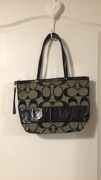 black and gray Coach monogram tote bag Toronto, M5M 2K7