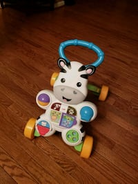 white and blue Fisher Price learning walker Woodbridge, 22192