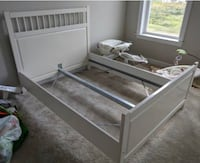 white wooden bed frame with storage Woodbridge, 22192
