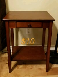 brown wooden single-drawer end table Peterborough, K9H 7L9