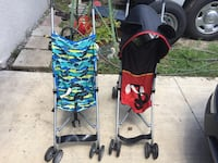 baby's two blue and red strollers Tampa, 33615