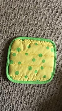 Green and yellow polka dotted tray Maple Ridge, V4R