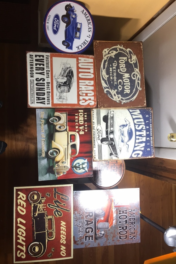 12x16 Vintage Tun Signs -FORD, ROUTE 66, HOT ROD- 3c0856f6-0103-49ba-999f-1e95fe5480ec