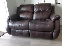 2 Leon leather sofa with recliners