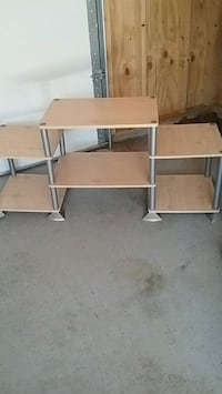 brown and gray wooden TV stand Berwyn, 60402