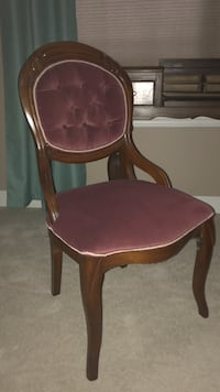 Victorian side chair handmade of walnut Suamico, 54313