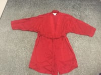 Ladies 100% red silk robe (Used Twice)  Milton, L9T 2R1
