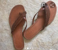 pair of brown leather sandals 2269 mi