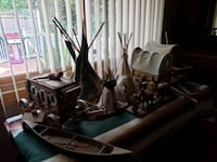 NATIVE AMERICAN SCEAN TEEPEES! CONOES STAGE COACH  Ingleside, 60041