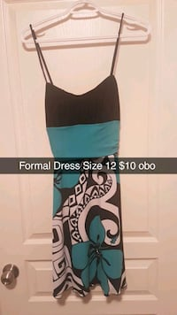 women's black and blue sleeveless dress Lloydminster, S9V 1K1