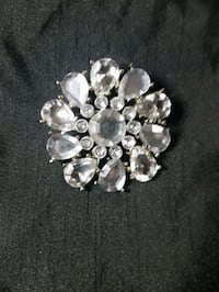 silver-colored diamond encrusted brooch Edmonton, T5E 3Z6