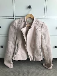 New With Tags Zara Leather Jacket - XS Pink Burlington, L7M 3M6
