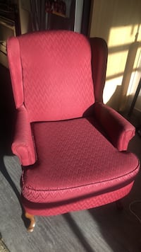 Red and black fabric padded armchair Denver, 80205