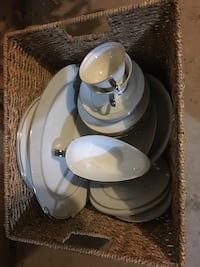 Moonlight White dinnerware set by The Bay Victoria, V8R 2Y5