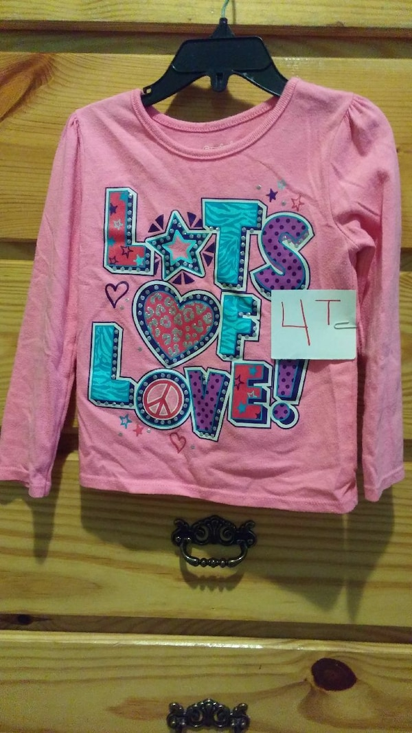 f7796d5e Used pink and teal Lots of Love print long-sleeved shir for sale in  Covington - letgo