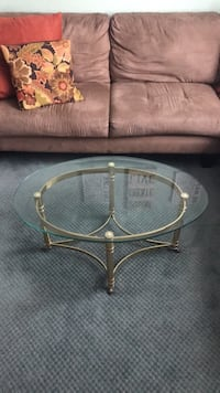 Brass brim coffee table with glass top Owings Mills, 21117