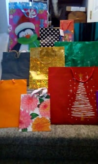 11 gift bags.  assorted sizes some our Christmas St. Thomas, N5P 3M7