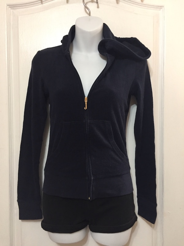 JUICY COUTURE Zip Up Hoodie Sweater: Size XS 1e554a98-e5bb-4199-bbeb-815186e69288