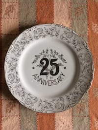 Norcrest Fine China 25TH Anniversary Plate - beautiful piece!  Hazleton
