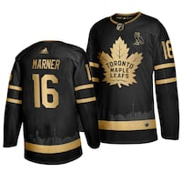 Mitch Marner Custom Black/Gold Toronto Maple Leafs Skyline Jersey Vaughan, L4L 0G4
