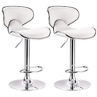 Two Brand New White Leather Bar Stool Barstools  Brea, 92821