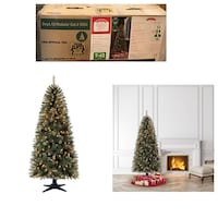 Holiday Time Pre-Lit 7' Brookfield Fir Artificial Christmas Tree