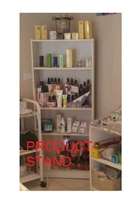 bookstand / product stand, white finish TORONTO