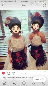 Girls folklorico dress (estilo Veracruz) complete set South Gate, 90280