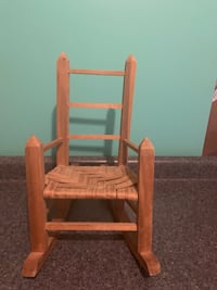 "Wood rocking chair for an 18"" doll"