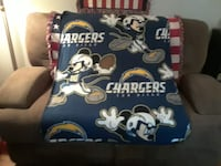Child size mickeymouse chargers throw blanket Las Vegas, 89118
