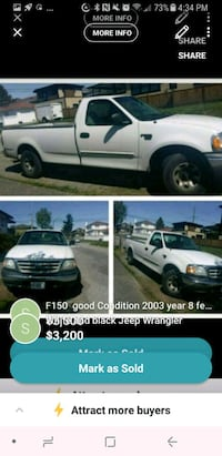 white Ford F-150 crew cab pickup truck Vancouver, V5X 1N3
