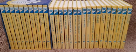 "27 Nancy Drew Hardcover ""Flashlight Series"" Books  $65 for the lot or"