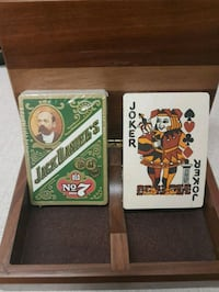 Collectible Jack Daniel's Wooden Box  with 2 decks of cards never used Toronto, M9R 4A6