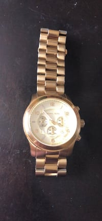 round gold Michael Kors chronograph watch with link bracelet Sterling, 20165