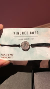 Alex and Anj silver-colored Kindred Cord bracelet