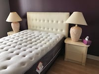 white tufted bed frame with white mattress Vaughan, L4J 3N8