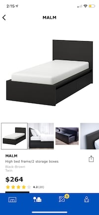 IKEA - MALM Twin Bed with 2 Storage Units Richmond Hill, L4C 1V5