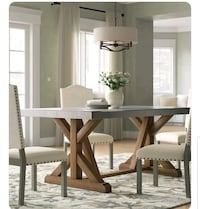 Wood and Concrete 6person Dining Table Falls Church