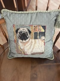 Pug Pillow Embroidered  Bradenton, 34202