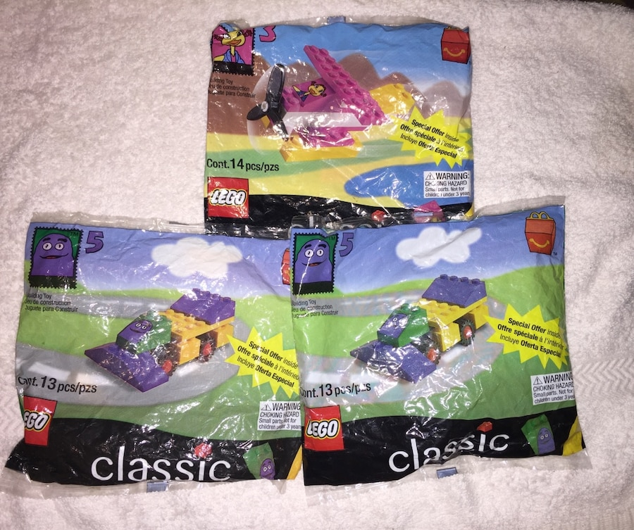 Photo LEGO McDonalds Polybags Vintage Collectible New Sealed