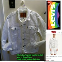 Levi's pride trucker jacket men's size L (new) $45  York, 17402