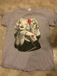gray and white crew-neck t-shirt with Marilyn Monroe print Hobart, 46342