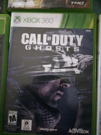 Xbox 360 Call of Duty Ghosts game  Winnipeg, R2J 2H3