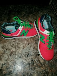 pair of (girls) pink-and-green New Balance shoes Foley, 36535