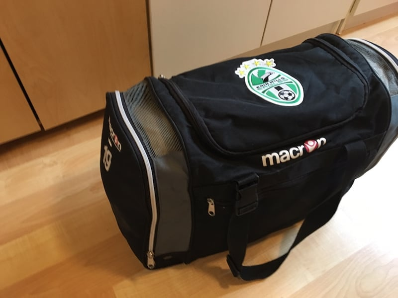 Macron $15 soccer bag with 19 on side fa9f7ff2-3f8b-4e03-a66e-f683c992b1fc