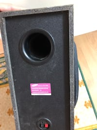 Black and gray subwoofer speaker Richmond Hill, L4C 9N5