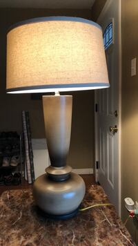 Brown base lamp with a cream shade Gonzales, 70737