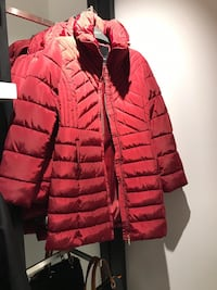 red and black zip-up bubble jacket Toronto, M3H 2P5