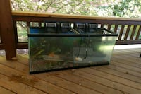 rectangular black framed clear glass fish tank Herndon, 20170