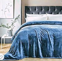 Charisma Ultra Soft Plush Blanket Bed Throw (Blue, King)  Monaca, 15061